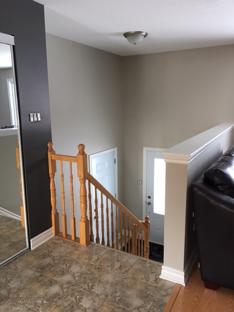 interior painting of entrance and foyer of house in Ottawa painted by professional painters in Ottawa Ontario PG PAINT & DESIGN