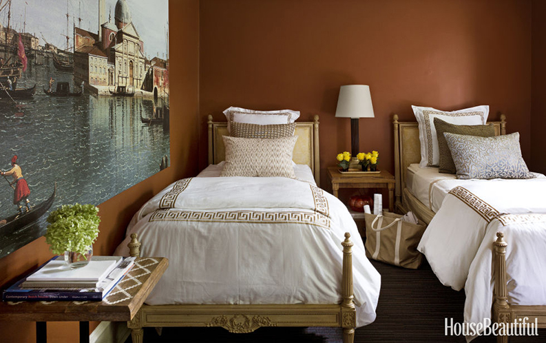 guest bedroom painted home beautiful