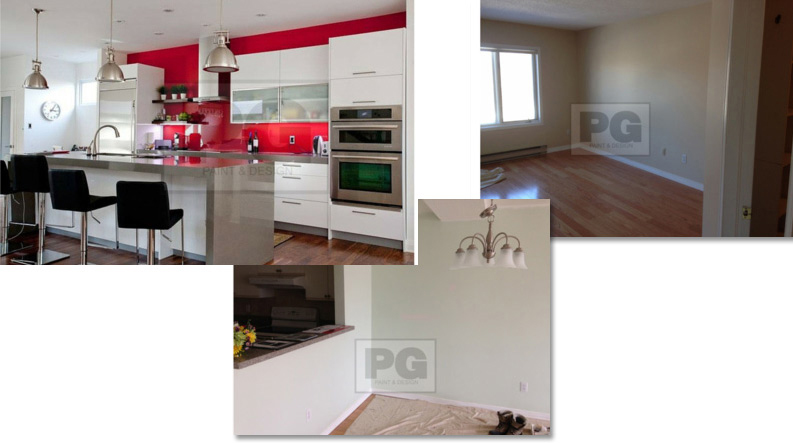 interior painting of condo apartment in Ottawa by PG PAINT & DESIGN painters