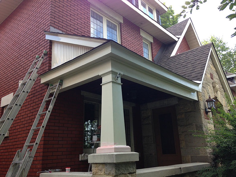 Island Park and Carling Ave Exterior painted by PG PAINT & DESIGN in Chelsea Gray Benjamin Moore