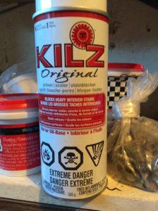 Kilz spray bottle to block stains