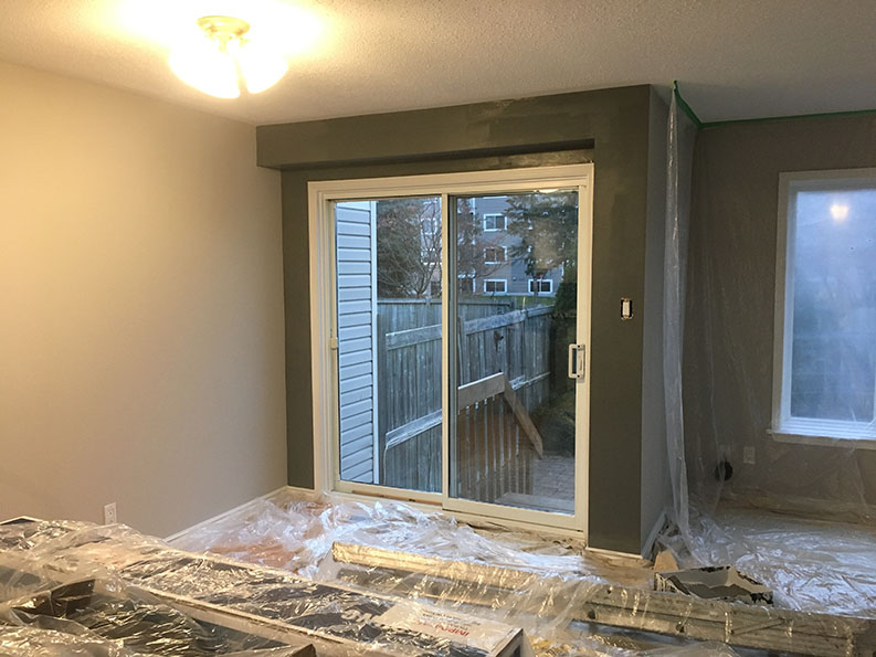 interior painting in progress by PG PAINT & DESIGN painters in Ottawa