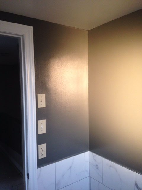painting of bathroom by PG PAINT & DESIGN