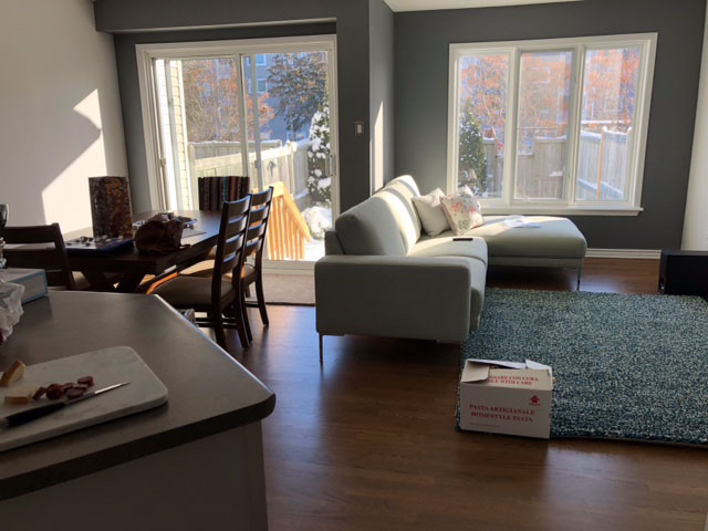 painting of family room and dining room done by professional painter PG PAINT & DESIGN