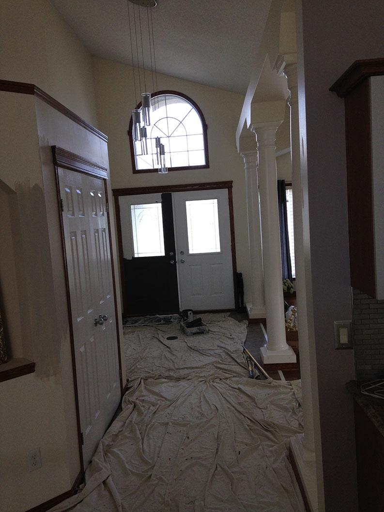 PG PAINT & DESIGN painted hallway entrance