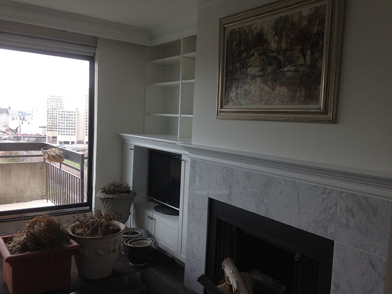 PG PAINT & DESIGN painting company painted interior of Condo unit in Ottawa