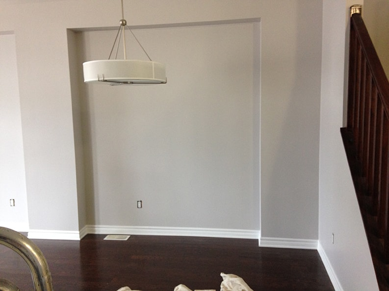 professional painting company PG PAINT & DESIGN painted dining room area