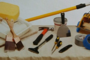 various tools for professional painters