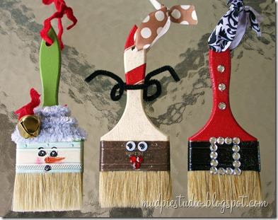 x-mas paintbrushes