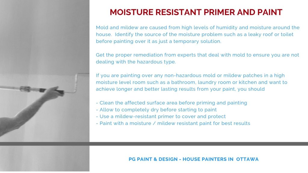 mildew resistant paint primer applied before painting tips from PG PAINT & DESIGN