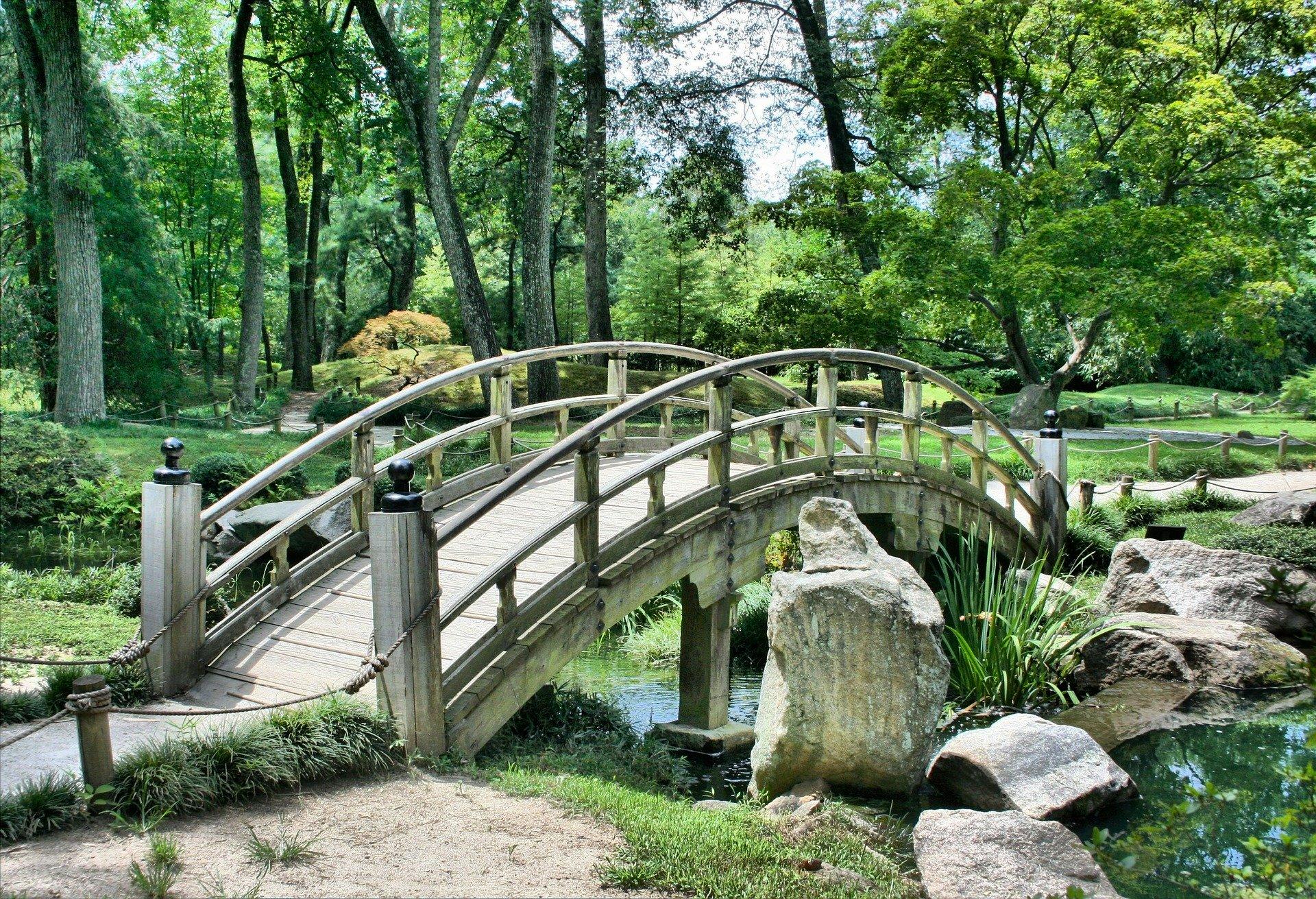 small bridge over water in ottawa area parks
