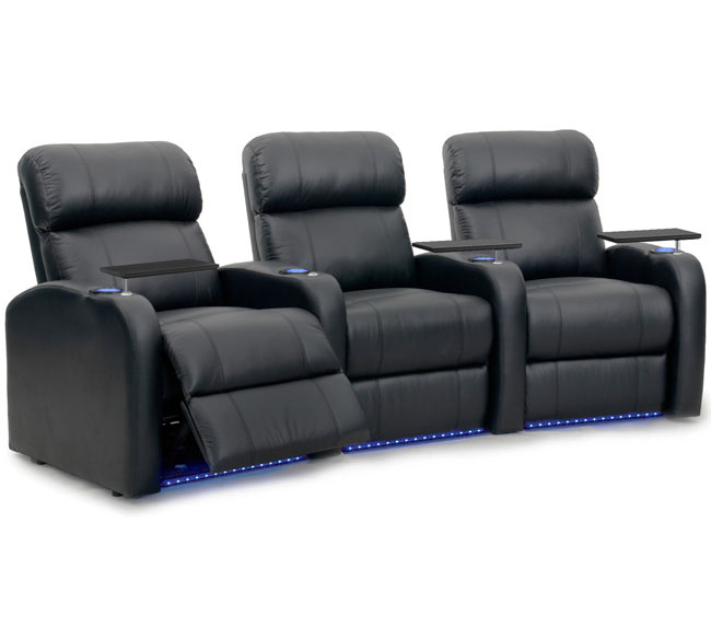 "The Diesel offers many exciting features like LED lighted cup holders & baserail on the power recline versions, a space saving design that allows you to maximize the amount of seats in your room, along with a 1.8 high density foam core for incredible comfort. This model has our unique powered Accessory Dock™ which accommodates a whole range of accessories. These include a swivel tray table, dual USB charger, LED Flex light, wine glass holder, and an iPad & tablet holder. The Diesel theater seat is constructed with hardwood that delivers a frame that is rock solid and ready for everyday use. Interior seat cushions use pocket coils – small springs similar to that found in a mattress – to give the seat cushion the ultimate comfort ride. The coils are wrapped and grouped, ensuring the seat does not sag over time. The seat backs are high for excellent neck and back support, and contain blown fiber that is resilient and comfortable.  <strong>Specifications:</strong> 	<li>Accessory Dock™ Included</li> <li>Compatible with all Accessories</li> <li>Top Grain Leather and Bonded Leather</li> <li>Power and Manual Recline</li> <li>Space Saver Design</li> <li>LED Lighted Cup Holders (Power Model Only)</li> <li>LED Lighted Baserail (Power Model Only) Chaise Style Footrest</li> <li>1.8 High Density Foam Cushions</li> <li>Individually Wrapped Pocketed Coils in Seat Core</li> <li>Kiln Dried Hardwood Frame</li> <li>Wallaway Design</li> <li>Fully Assembled, Must Attach Seat Back</li>  </br> <img src=""http://i67.tinypic.com/2ikcnx2.jpg"" border=""0"" alt=""Image and video hosting by TinyPic""> <img src=""http://i63.tinypic.com/t059o2.jpg"" border=""0"" alt=""Image and video hosting by TinyPic""> <img src=""http://i65.tinypic.com/15n8uh3.jpg"" border=""0"" alt=""Image and video hosting by TinyPic"">"