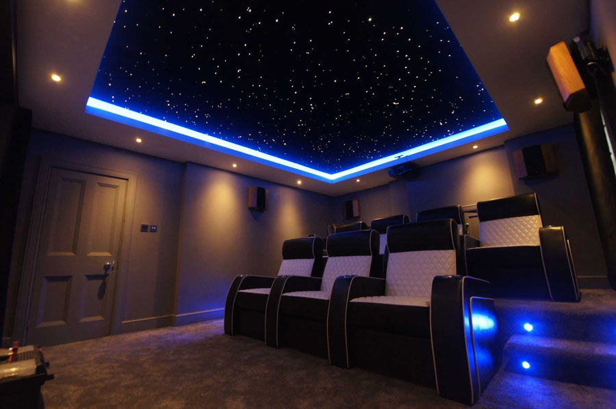Star ceiling home theater