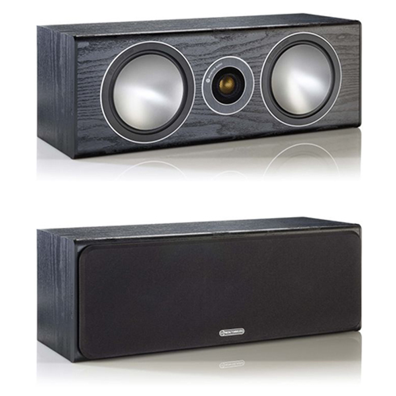 """<h2>SILVER C350</h2> </br> It features twin 51/2"""" C-CAM bass/mid-range drivers straddling a Bronze C-CAM tweeter for pin-point synergy with its satellite partners producing seamless front soundstage action and articulate dialogue. This product is now available to use with home theatre design software, The Cinema Designer. </br> <strong>Features</strong></li> <li>Dual 51/2"""" bass/midrange drivers with concave 'dished' C-CAM cone profile</li> <li>Acoustically matched to Bronze speaker systems for excellent imaging and consistency of timbre in surround applications</li> <li>Single bolt-through driver systems, for increased overall bracing, rigidity and driver/baffle de-coupling</li> <li>High quality crossovers with premium grade Polypropylene film capacitors used throughout</li> <li>Rigid 18 mm MDF construction throughout, employing radial and cross-bracing techniques for high rigidity resulting in low cabinet coloration</li> <li>Invisible magnetic grille fixing</li> <li>Premium quality vinyl veneer finishes</li> </br> <img src="""" http://i63.tinypic.com/1zgvqeu.jpg """"> </br> <img src="""" http://i64.tinypic.com/1zo9kee.jpg """">"""