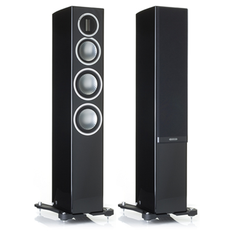 """<h2>GOLD 200</h2> </br> Amazing scale and impressive dynamic control are available from this slender three-way design, comprising the improved pair matched ribbon, twin 5.5"""" bass drivers and a 4"""" mid-range driver, which is housed in a dedicated enclosure. With high overall efficiency, wide bandwidth and vanishingly low distortion, the Gold 200's Platinum DNA is ready to be experienced. This product is now available to use with home theatre design software, The Cinema Designer. </br> <strong>Features</strong> <li>C-CAM (Ceramic-Coated Aluminium/Magnesium) ribbon transducer design – providing extension to a class leading 60 kHz</li> <li>HiVe II port technology for better transient response and tighter bass</li> <li>C-CAM RST (Rigid Surface Technology) drivers</li> <li>Single bolt through driver fixings for improved bracing, rigidity and driver/baffle de-coupling</li> <li>Die-cast alloy terminal panel arrangement with high quality bi-wire terminals and high end spade type link cables</li> <li>Pureflow silver internal cabling</li> <li>Selected premium quality wood veneer or high gloss lacquer finishes</li> <li>Rigid 20 mm MDF construction throughout, employing radial and cross-bracing techniques for high rigidity resulting in low cabinet colouration</li> <li>Invisible magnetic grille fixings provide a sleek visual effect.</li> </br> <img src="""" http://i65.tinypic.com/mc94e1.jpg """"> </br> <img src="""" http://i67.tinypic.com/16h7mds.jpg """">"""