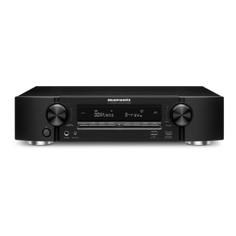 "<p style=""font-family:calibri; font-size:30px; color:#e38408;"">Marantz NR1609 Ultra-Slim 7.2 Channel Full 4K Ultra HD </p>  <p style=""font-family:calibri; font-size:25px; color:#b06606;"">Network AV Receiver with HEOS</p> </br> A thrilling high-quality AV receiver occupying minimal space: that's the NR1609. High current discrete power amplifiers on all 7 channels deliver astonishing power and clarity, and it delivers immersive 3D surround sound thanks to both Dolby Atmos and DTS:X decoders, yet at just a little more than 3 inches tall it's slim enough to slip into any TV cabinet. It's fully compatible with the latest HDMI and HDCP 2.2 specifications on all 8 HDMI inputs, and will pass all the latest video formats – 4K 60Hz video, 4:4:4 Pure Color sub-sampling, BT.2020, HDR and Dolby Vision – from Blu-ray players, set-top boxes, games consoles and streamed/download 4K Ultra HD content to an Ultra HD TV or projector. For future HDR broadcast content, HLG (Hybrid Log Gamma) pass-through will also be supported via a firmware update.   Bluetooth and AirPlay can stream music directly from portable devices, while HEOS wireless multi-room music integration allows the NR1608 to become part of a complete home-wide music system. Explore and play your own music library, online streaming music services and thousands of Internet radio stations, using the free HEOS app.   The ""Marantz 2016 AVR Remote"" app is also available free from the Apple app store, GooglePlay and the Amazon app store.   <p style=""font-family:calibri; font-size:25px; color:#b06606;"">Key Features</p> 7-channel discrete power amplifier, 50W per channel (8 ohm, 20 Hz – 20 kHz, 0.08% THD). 4K/60 Hz full-rate pass-through, 4:4:4 color resolution, HDR and BT.2020, plus Dolby Vision compatibility and Hybrid Log Gamma (HLG; via future firmware update). 8 HDMI inputs (incl. 1 front) with full HDCP 2.2 support. Dolby Atmos (up to 5.1.2) and DTS:X. Built-in Wi-Fi with 2.4GHz/5GHz dual band support. HEOS wireless multiroom integration. AirPlay, Bluetooth, TuneIn Internet Radio, Pandora, Spotify, Tidal, Deezer, Amazon Prime Music, SiriusXM, Napster, iHeartRadio, Sound Cloud, Network Audio Streaming. DSD (2.8/5.6MHz), FLAC, ALAC and WAV support. Audyssey MultEQ, Dynamic Volume and Dynamic EQ. Audyssey MultEQ Editor app support (available for US $20 in the App store) Color-coded speaker terminals, Setup Assistant, Advanced GUI, Marantz 2016 AVR Remote App. Intelligent ECO mode with off/on/auto setting.   <p style=""font-family:calibri; font-size:25px; color:#b06606;"">Powerful 7 Channel Discrete Amplifier with Eco Mode</p> The NR1608's power amp section features discrete high-current output devices for superb sound with both music and movies, with, identical power on all 7 channels for precision sound. Rated at 50 watts per channel (8 ohm, 20 Hz – 20 kHz, 0.08% THD), the NR1608 features low-impedance drive capability, for excellent speaker control, and is compatible with 4 ohm speakers too. Meanwhile the Eco mode provides energy savings: it features an on-screen Eco meter, while it's also possible to use the receiver in power-saving mode, either reducing the maximum output power or adopting low-power strategies at more modest settings – and all without any effect on the superb sound quality.  Latest HDMI Connectivity; HDR, Dolby Vision, HLG, and HDCP 2.2 Compatible Eight HDMI inputs – including one on the front panel for quick connections – feed the NR1608's advanced video section, supporting the latest HDMI specification, including 4K Ultra HD 60Hz video, 4:4:4 Pure Color sub-sampling, BT.2020 and HDR pass-through support on every input. Dolby Vision compatibility is now supported, too, along with pass-through for new HDR broadcast format HLG (Hybrid Log Gamma) to be enabled via a future firmware update.  HDCP 2.2 compatibility on all HDMI inputs, for 4K Ultra HD copy-protected content, ensures the NR1608 is ready for the next generation of Blu-ray disc players, set-top boxes and 4K Ultra HD streams and downloads, while the video processor can also upscale SD and HD video to 4K Ultra HD. Certified by the Imaging Science Foundation, the NR1608 features a full suite of video calibration controls for use by an ISF technician, along with ISF Day/Night video modes.   <p style=""font-family:calibri; font-size:25px; color:#b06606;"">Dolby Atmos</p> Feel every dimension in Dolby Atmos. Dolby Atmos transports you into the story with moving audio that flows all around you with breathtaking realism. Enjoy a 5.1 surround sound speaker system and 2 additional overhead speakers or 2 Dolby Atmos elevation speakers for the ultimate home theater experience - including Dolby Surround upmixer for legacy content.     <p style=""font-family:calibri; font-size:25px; color:#b06606;"">DTS:X </p> Immersive audio places sound where it would occur naturally in space, creating a lifelike, multi-dimensional audio experience in the home. The improved immersion and heightened realism draw you into the world of your favorite movies. The included spatial remapping engine, DTS Neural:X™, gives your movie, game and music collections a new lease on life! DTS:X brings the theater home.  <p style=""font-family:calibri; font-size:25px; color:#b06606;"">Built-in Bluetooth, Wi-Fi, and AirPlay</p> The NR1608 is equipped with an advanced dual antenna system for Bluetooth and Wi-Fi streaming, for a robust connection even in congested urban environments. Apple's AirPlay lets you listen to your favorite tracks wirelessly from iOS devices such as iPhones and iPads.   <p style=""font-family:calibri; font-size:25px; color:#b06606;"">HEOS</p>  The Perfect Solution for Wireless Multi-Room Music Streaming With built-in HEOS technology, the NR1608 becomes a key component of the HEOS wireless multi-room system. Add more HEOS speakers, and enjoy your music anywhere and everywhere around your home, all controlled via the free HEOS app. Play the same song in every room, or a different song in every room.  Multiple streaming services can be played on the NR1608 or any other connected HEOS devices, including Pandora, Spotify, TuneIn Internet Radio, Amazon Music, SiriusXM, iHeartRadio, Sound Cloud, Tidal, Napster or Deezer (*). You can also stream music from your phone, USB stick, or local network drives, with favorites and playlist functions supported.    <p style=""font-family:calibri; font-size:25px; color:#b06606;"">HEOS + Alexa — Speak Your Commands</p> Use your voice to stream your favorite music services to this HEOS-enabled device. Ask Alexa to play music from Pandora, Spotify, Amazon Music and much more.  Switch between inputs (Blu-ray, DVD, Media Player, etc.), turn volume up or down, pause, mute and play the next song — all with your voice.  To start streaming with Alexa voice commands, open the Alexa app and select ""Skills."" Add HEOS Home Entertainment to enable. Then, go to Smart Home in the Alexa app menu and choose Devices and Discover or say ""Alexa, discover my devices.""  With HEOS Home Entertainment and Alexa, you can stream to this product and any other HEOS-enabled device.    <p style=""font-family:calibri; font-size:25px; color:#b06606;"">Marantz 2016 AVR Remote</p> The Marantz 2016 AVR Remote app for iOS and Android smartphones and tablets gives you complete control over the latest Marantz network AV Receivers. Along with many new features, the graphics and user interface have been completely overhauled. Control power, volume, input and settings, or switch instantly to the HEOS App to access your music content and streaming services, with full HEOS wireless multi-room control.      <p style=""font-family:calibri; font-size:25px; color:#b06606;"">Hi-Res Audio</p> The NR1608 lets you discover the incredible fidelity of high resolution audio tracks via the front panel USB port or network sources, with the ability to decode ALAC, FLAC and WAV lossless files up to 24-bit/192-kHz, as well as DSD 2.8MHz and 5.6MHz tracks (the audiophile format of SACD). You can also listen to other popular file types, such as MP3.        <p style=""font-family:calibri; font-size:25px; color:#b06606;"">Audyssey MultEQ for simple set-up</p> Using the measuring microphone and stand supplied, Audyssey MultEQ measures the speakers in your home theater, including the subwoofer, and then applies multiple high precision DSP room acoustic correction filters, providing the smoothest, most natural tonal balance - regardless of the brand(s) or model(s) of speaker.  Audyssey Dynamic EQ features advanced psycho-acoustic processing to deliver clear dialogue and wide-band response even at reduced volume levels, delivering cinema-level clarity whatever listening level you choose, while Audyssey Dynamic Volume avoids nasty shocks by normalizing volume when content switches to commercials or announcements, creating an easier listening experience.        <p style=""font-family:calibri; font-size:25px; color:#b06606;"">The Audyssey MultEQ Editor App</p> The NR1608 supports the brand-new Audyssey MultEQ Editor App. Go 'under the hood', view and adjust settings for detailed tuning, customize the sound more precisely to the specific problems in your room, and tailor the sound to your personal preferences.  View the speaker detection results, to check correct installation. View before and after results of the Audyssey calibration, making it easy to identify room problems. Edit the Audyssey target curve for each channel pair to suit your tastes. Adjust the EQ frequency adjustment range for each channel pair. Switch between 2 high frequency rolloff target curves. Enable/Disable midrange compensation to make the vocal region brighter or smoother. Save and load calibration results. The Audyssey MultEQ Editor app, for Android and iOS, is available for purchase from the Apple App Store or Google Play Store.       <p style=""font-family:calibri; font-size:25px; color:#b06606;"">Dual Subwoofer Outputs</p> A single subwoofer demands optimum placement within the room for the best bass, to even out peaks and dips in response. The NR1608 supports two subwoofers: used in different locations, these will give a smoother low-frequency response for more accurate bass anywhere in the listening area.       <p style=""font-family:calibri; font-size:25px; color:#b06606;"">Multi-Source/Multi-room</p> Whatever your family's entertainment needs, the NR1608 delivers: you can enjoy 5.2-channel surround sound in the main room, and at the same time play stereo sound from another source in another part of the house. Simply connect a pair of speakers to the multi-room amplified outputs, or hook up a separate stereo amp and speakers to the Zone 2 pre-outs.        <p style=""font-family:calibri; font-size:25px; color:#b06606;"">Smart TV Connectivity</p> Via the HDMI CEC (consumer electronics control) functionality on some Smart TVs, it's possible to control the NR1608 with the TV's remote handset. With the receiver's ""HDMI control"" set to ON, set ""Smart Menu"" receiver control functions and the TV's Smart Menu home screen will provide you direct access to source and surround mode selections, the main setup menu, and Smart Select configuration presets.      <p style=""font-family:calibri; font-size:25px; color:#b06606;"">Simple Smart Select Functions</p> 4 Smart Select function buttons on the remote control will store your preferred setup - input, volume and Audyssey configuration - for particular sources. The push of just one button has the NR1608 perfectly configured for anything from Blu-ray or your TV set-top box to your favorite Internet radio station.      <p style=""font-family:calibri; font-size:25px; color:#b06606;""> Easy To Setup,  Easy To Use</p> For easy installation, the NR1608's horizontal row of premium loudspeaker terminals is color coded, with a set of matching cable-labels supplied to ensure correct hook-up. The AVR's clear graphical on-screen display has an exclusive Setup Assistant, combining with the Quick Start guide to provide guidance and optimize critical settings for the best possible sound quality, whatever your configuration.    <p style=""font-family:calibri; font-size:25px; color:#b06606;"">More than 60 Years of Audiophile Heritage</p> Founded in 1953, Marantz has a long and rich history of designing audio components embraced by music lovers and critical listeners around the world. Because Music Matters so much in our lives, the NR1608 carries on our long tradition of delivering superlative stereo listening, as well as the ultimate home theater experience."