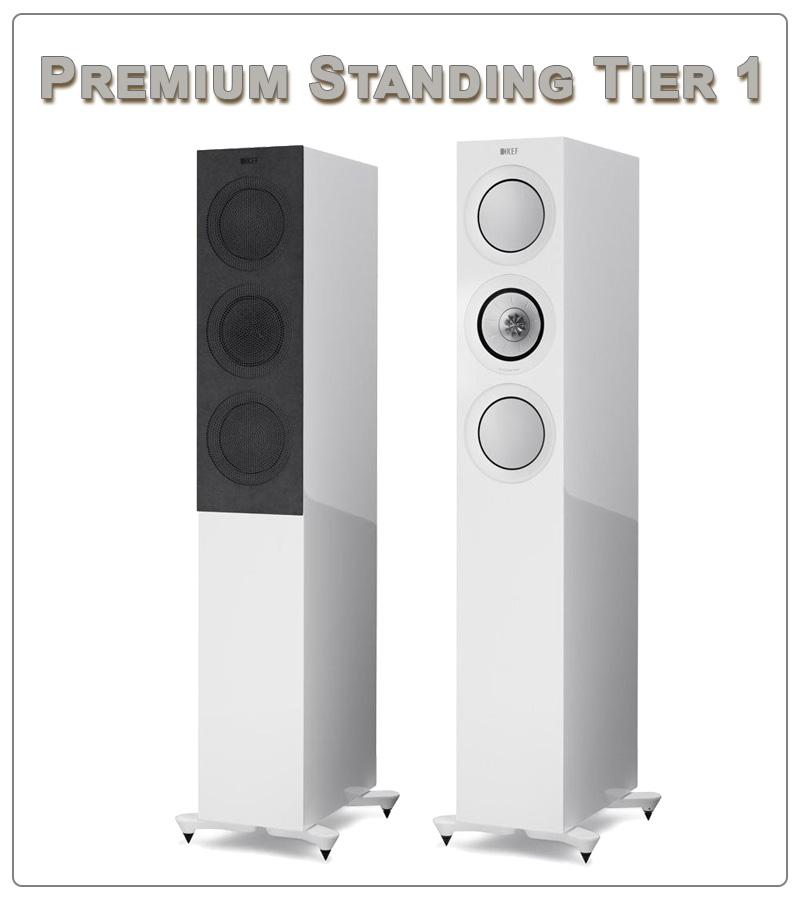Kef R5 speaker tower