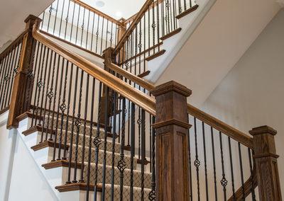MK Custom Homes - Basement and Stairs