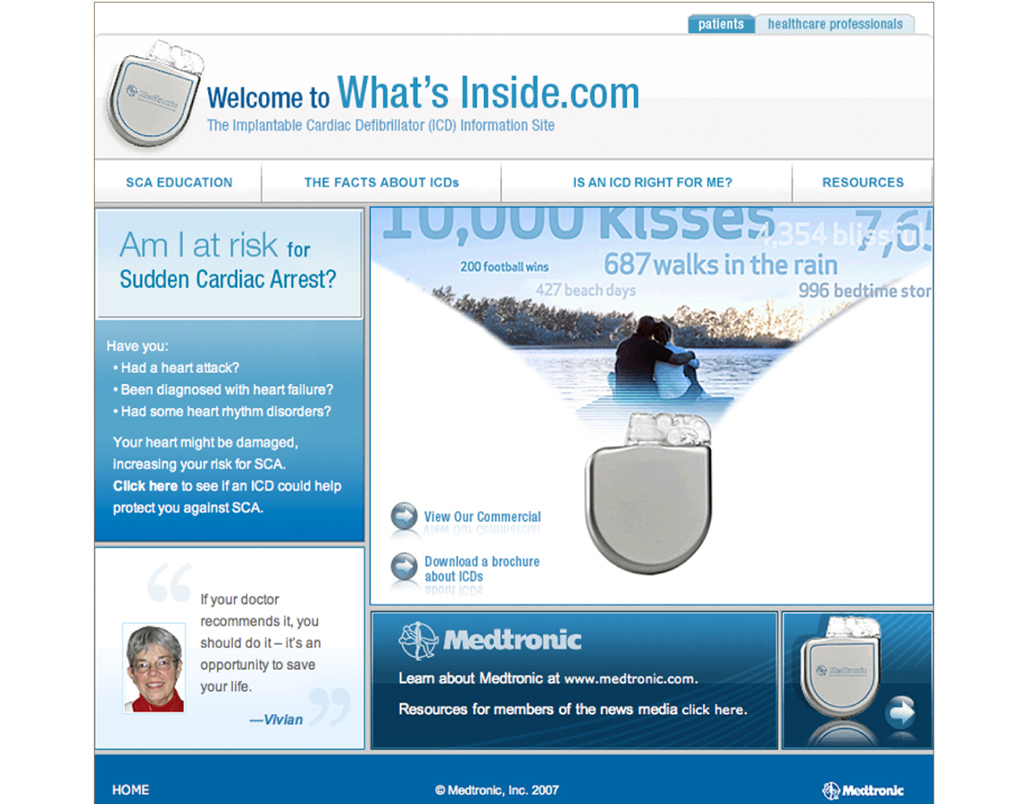 medtronic webpage