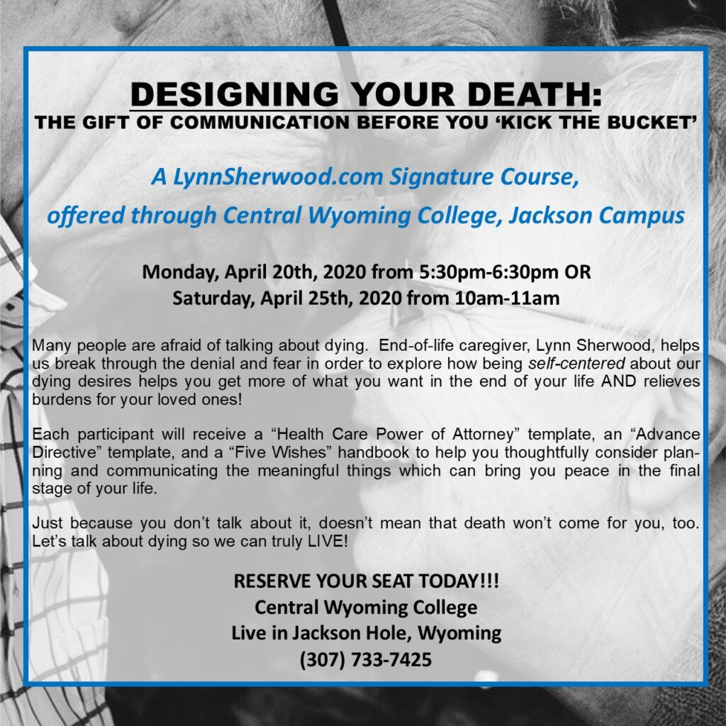 Designing Your Death College Lecture