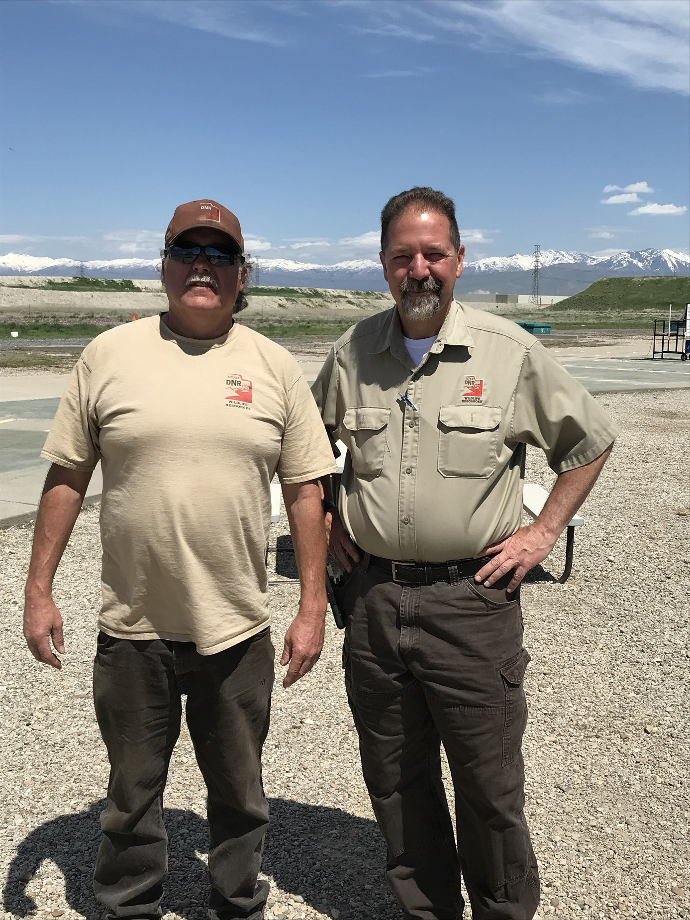 Chester Whiteman and George Sommer help to make sure ATA events at Lee Kay SC are enjoyable for shooters.
