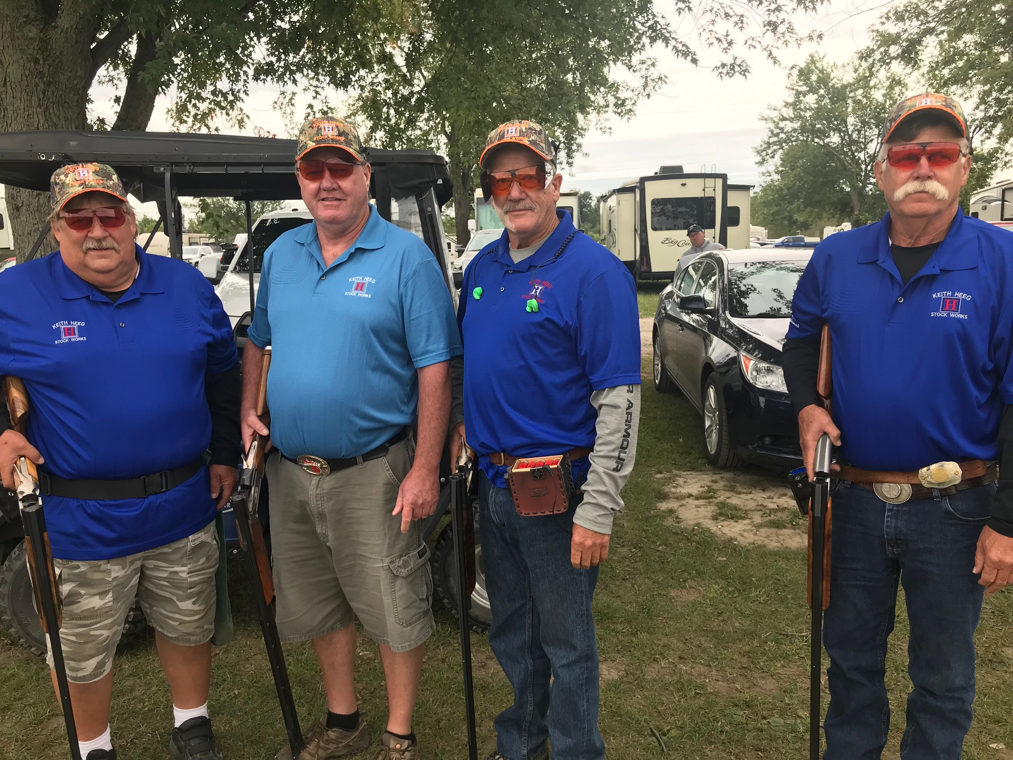 The Keith Heeg Stock Works team: multi-time Michigan Fall and Spring Team champions, at the 2019 Michigan Fall Team Shoot. Members include Dan Cook, Mark Jonckheere, Bill Hagerty and Larry Telfer. The spot occupied by Heeg was left open after his passing in early September. The end of an era.
