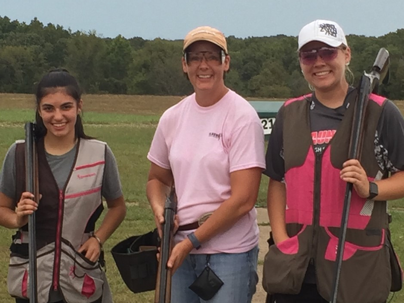 Shelby Odom, Lori Glasgow and Ashleigh Painter enjoyed shooting at the Missouri Fall Handicap, with all three taking home awards.