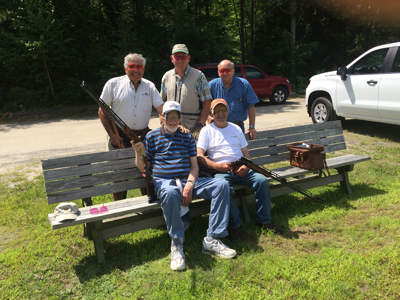 Trapshooting Hall of Fame inductee Cal Stinson passed away in October. He is pictured with his squad from the 2019 state shoot, including Bob Paradis (sitting), Vince Conti, David Japhet and Joe Hall.