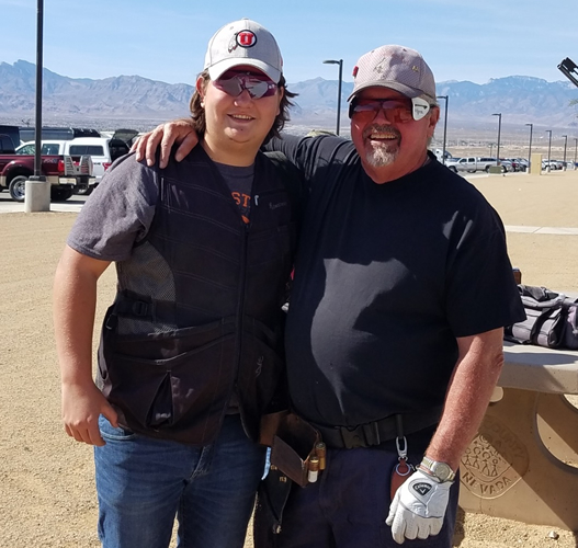 Justice Sudbury and grandpa Joe Sudbury both ran 100 while shooting on the same squad at the Nevada State Shoot. It was Justice's first century