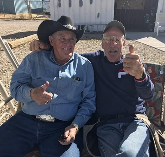 Wynn Isom and Bruce Allred enjoyed some time socializing at Cedar City (UT) TC.