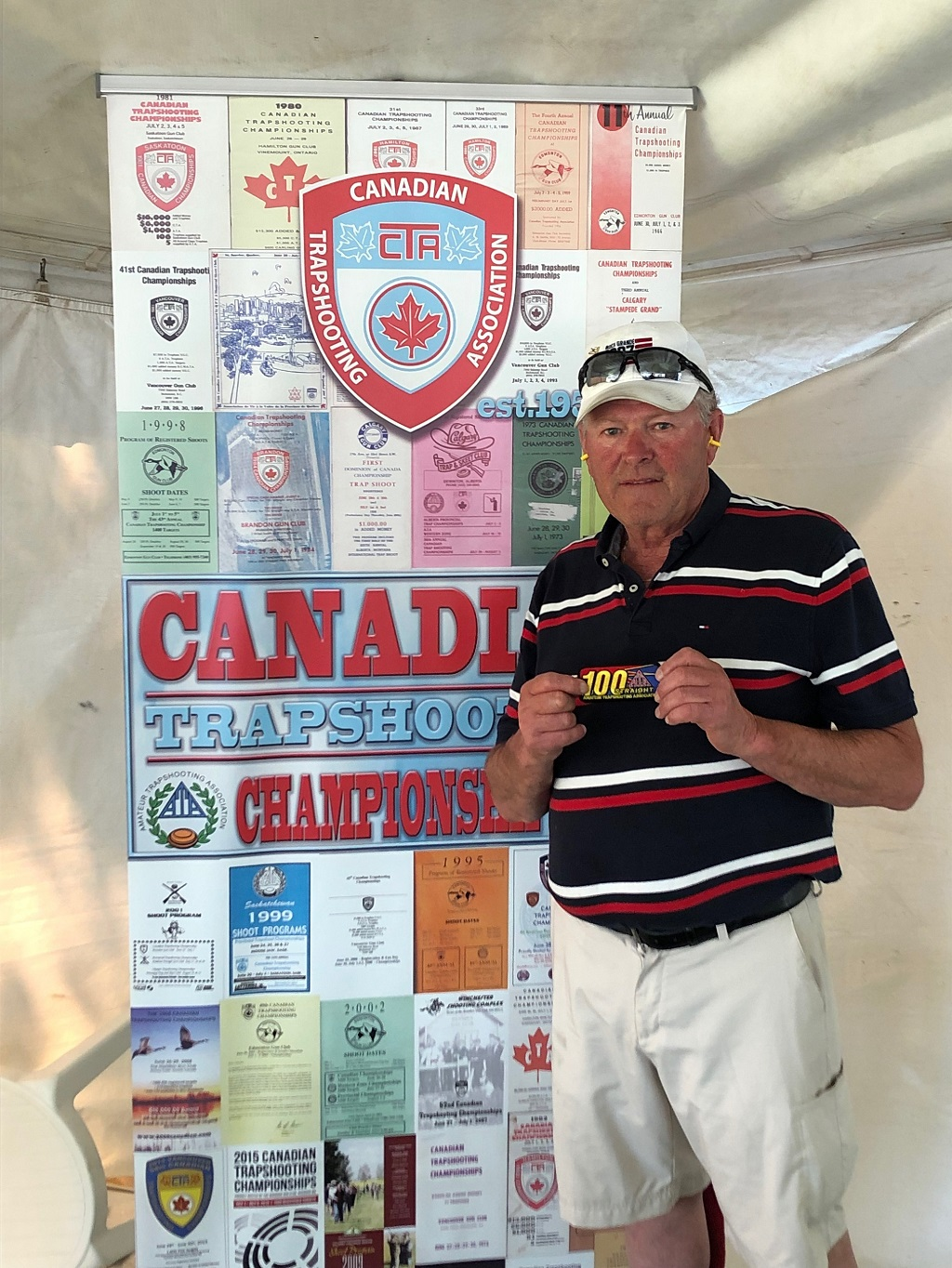 Reynold d'Entremont broke his first 100 straight at the 2019 Canadian Championships.