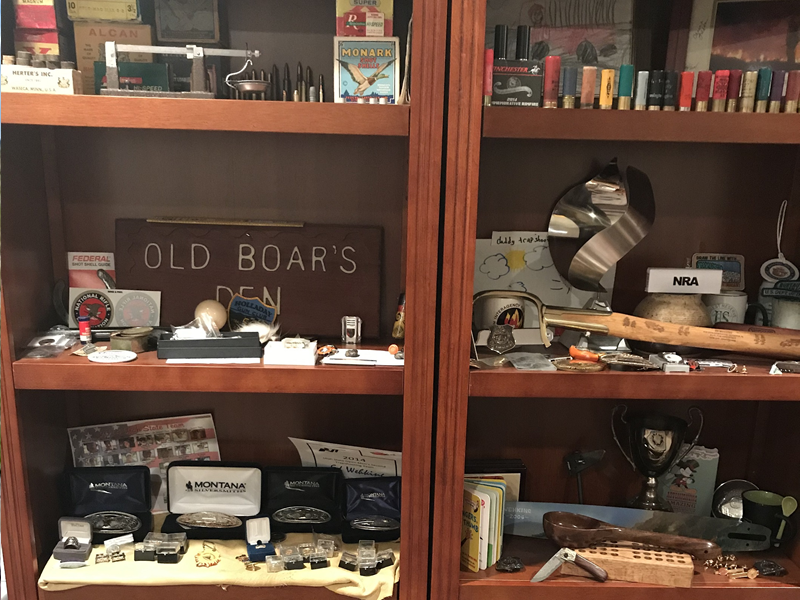 Some quarantine acitivies could include cleaning and organizing your trophy room or reloading room.