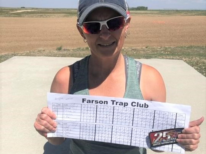 Jackie Frericks broke her first 25 straight during the Spring Shoot at Farson TC.