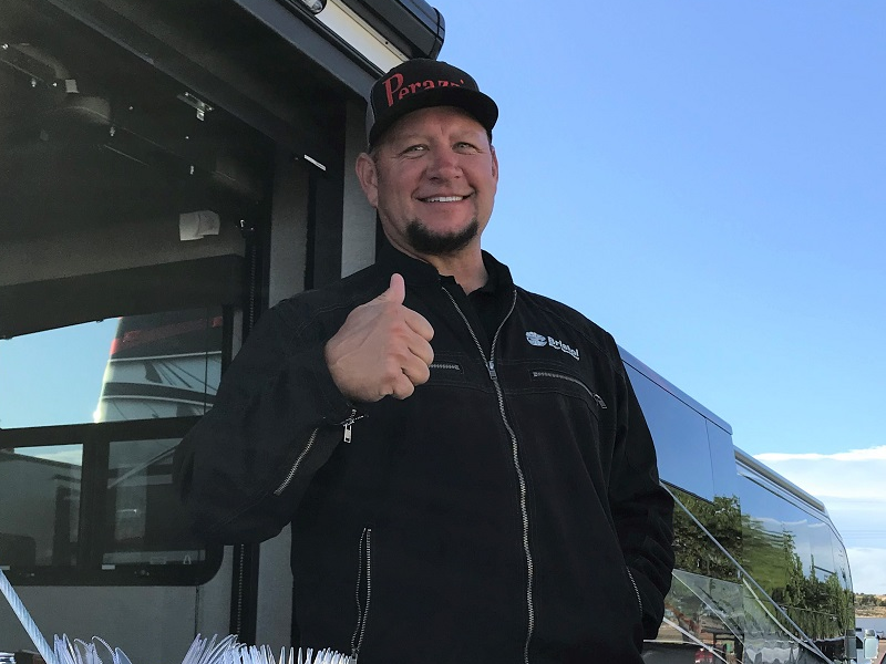 NHRA driver Robert Hight competed in the Western Grand at Vernal R&GC and also spent time barbecuing for his fellow shooters.