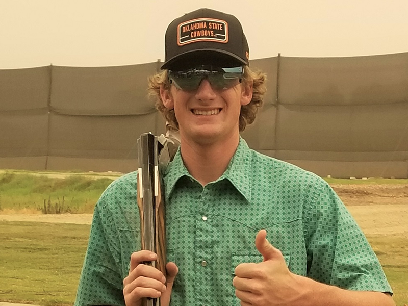 Colton Vogt earned his way to the 27-yard line at Kingsburg GC's Silver Shoot