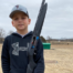 Thirteen-year-old Noah Heitland, using his new gun, broke one of the three orange birds at Ada S&TC's Jan. 5 shoot
