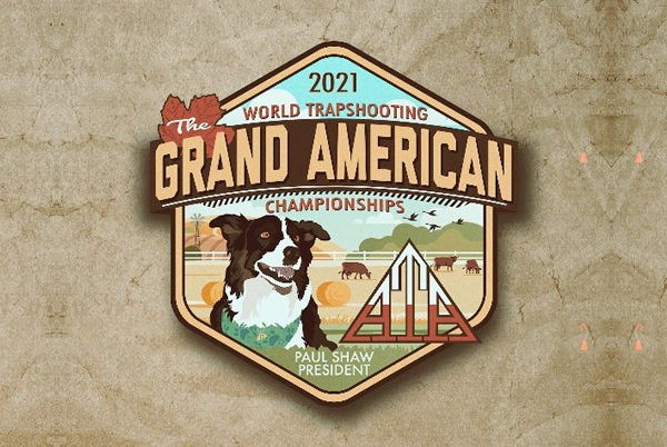 The 2021 Grand American logo features ATA President Paul Shaw's Australian Shepherd Griggsy. Unfortunately Griggsy passed away unexpectedly in February.