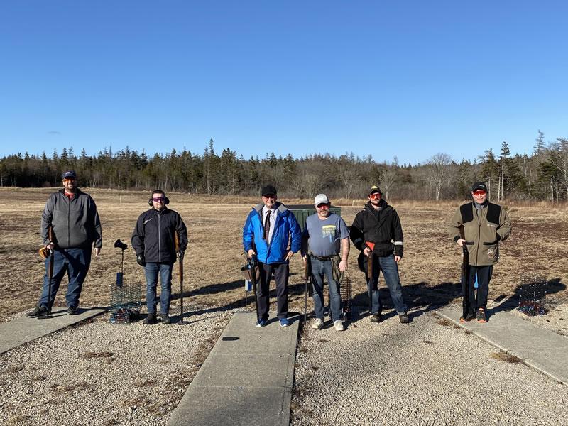 Steve d'Entremont, Shawn d'Entremont, Louis d'Entremont, Ken d'Eon, Randy d'Entremont and Davis Atwood participated in Highland GC's first shoot of the season.