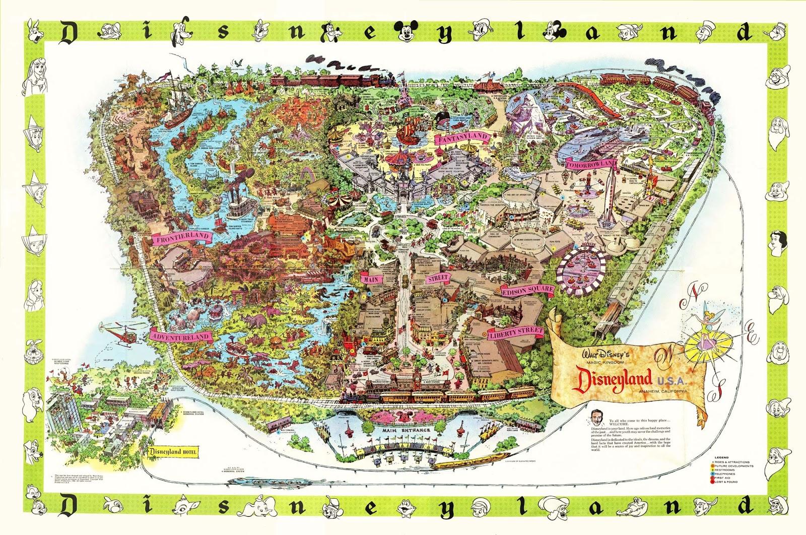 1964 Disneyland Map
