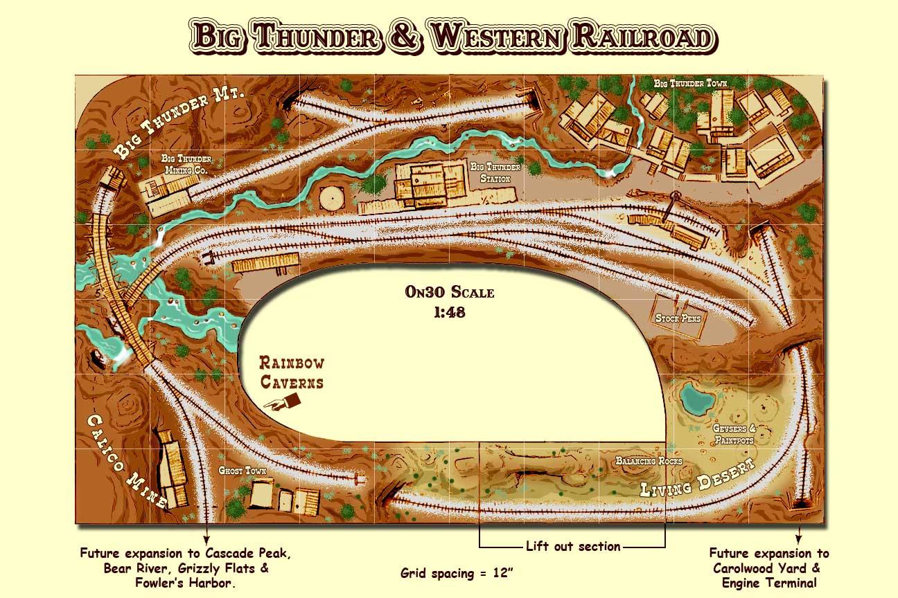 On30 track plan Big Thunder