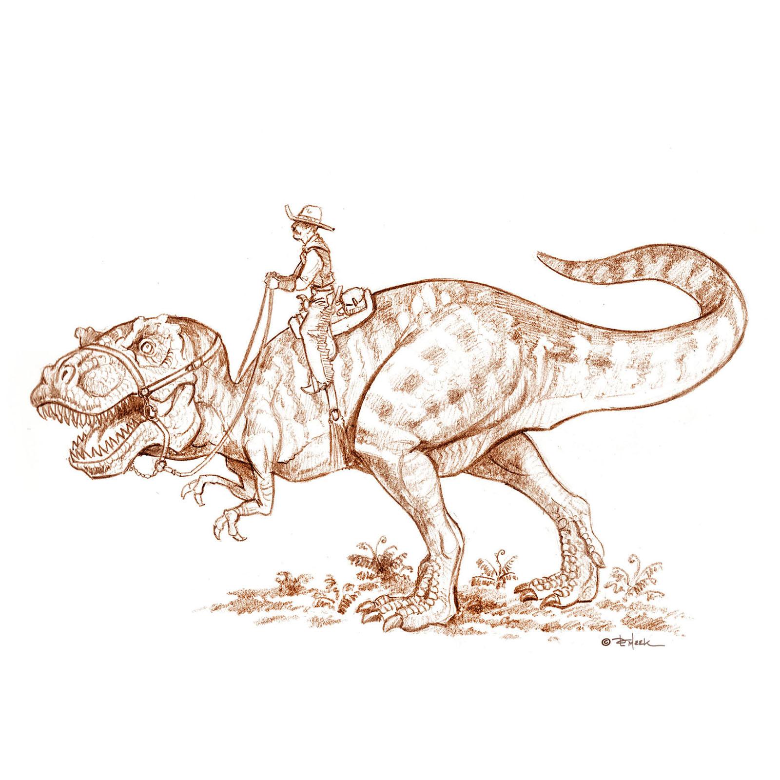 cowboy on a T-Rex