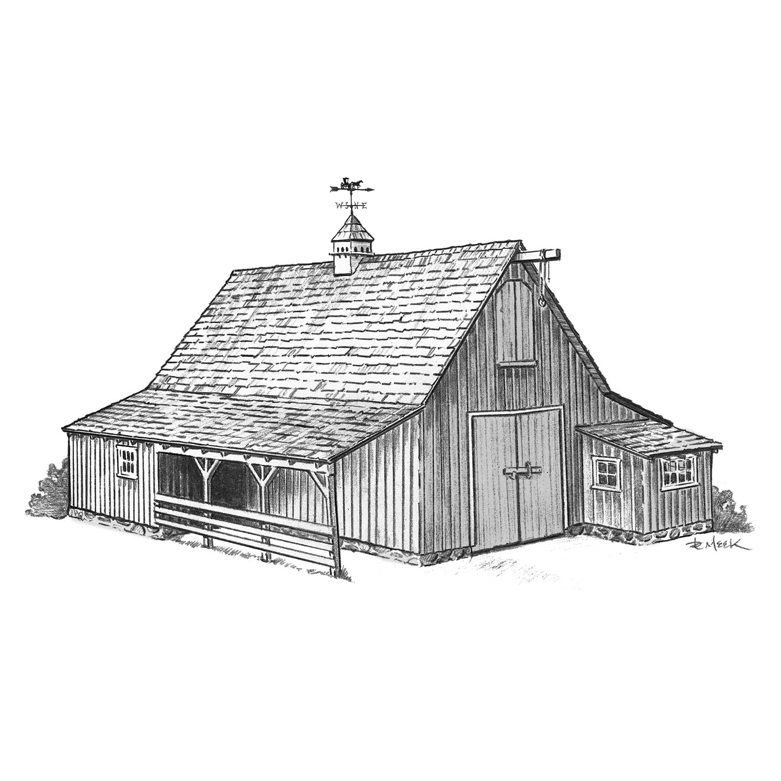 Disney Barn Sketch