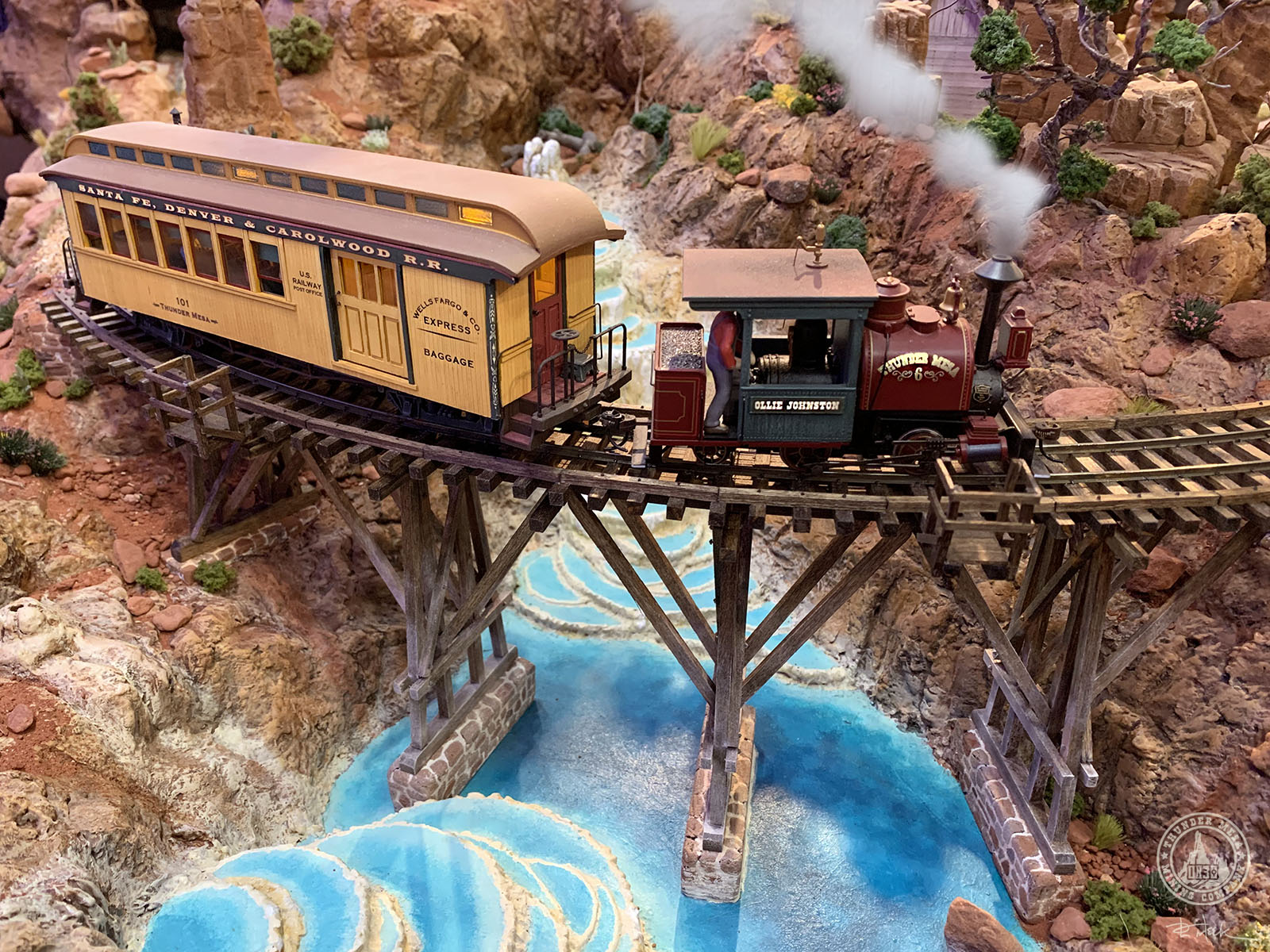 model railroad bridge