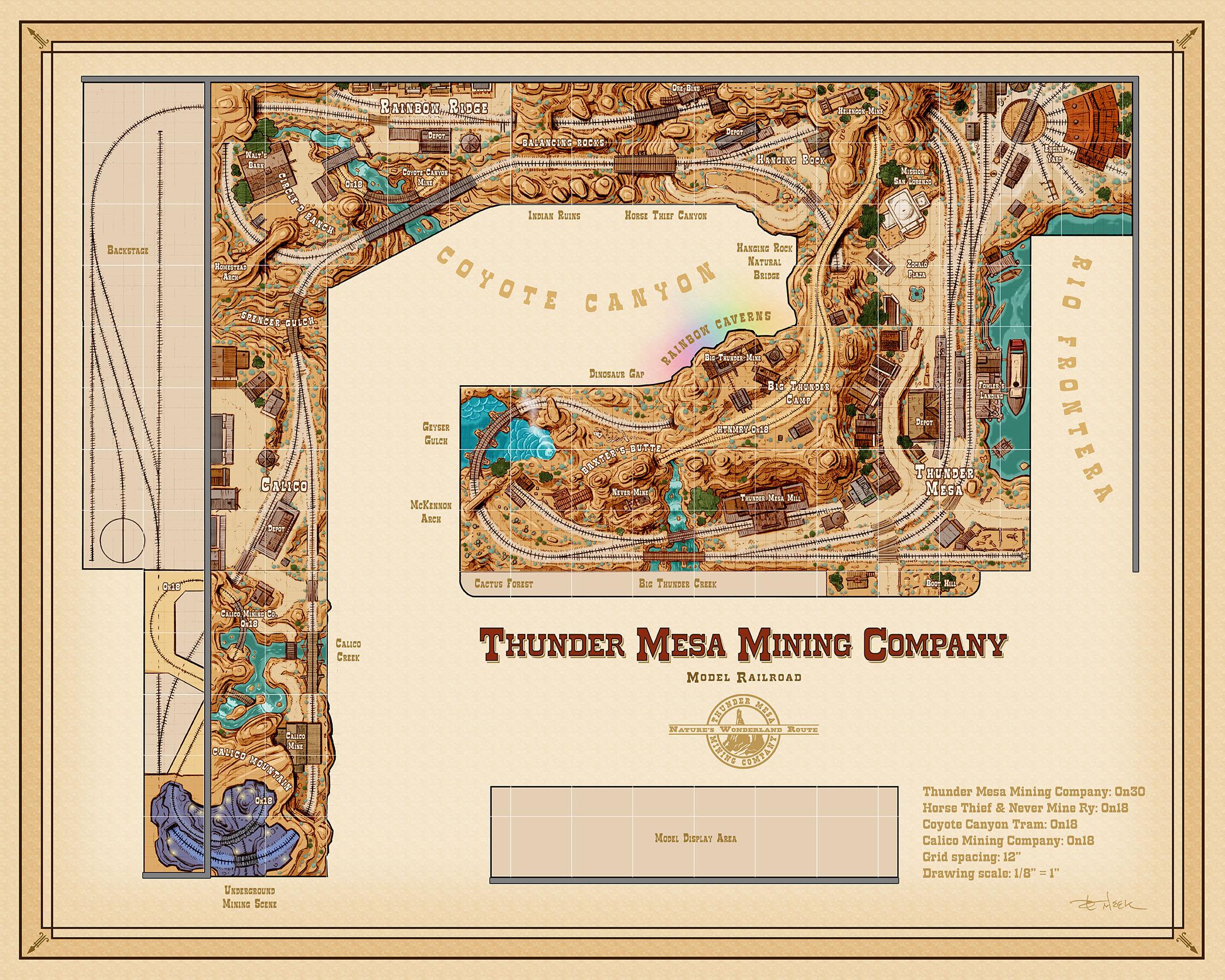 Thunder Mesa Track Plan On30