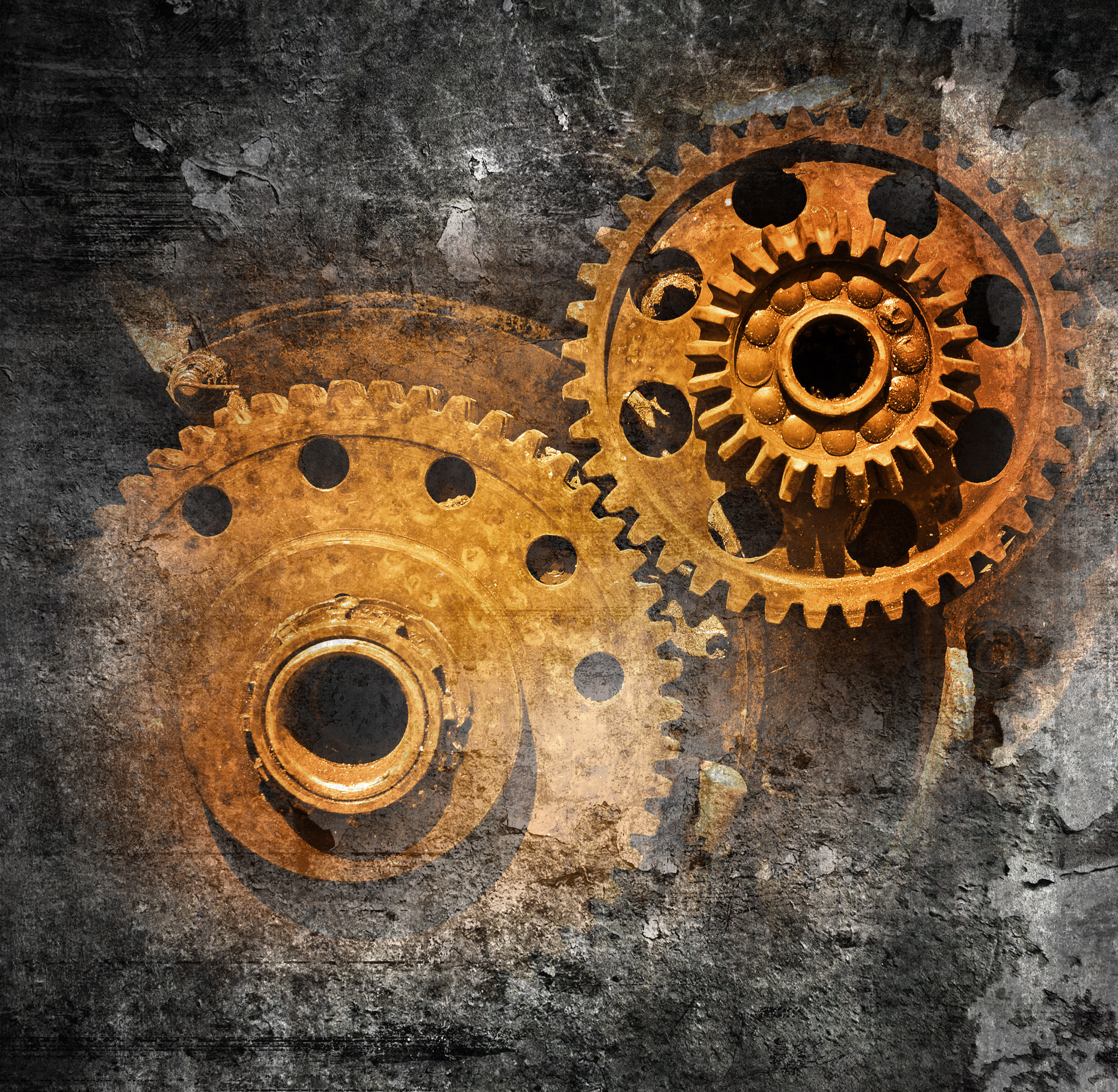 Image of rusty gears in need of VCI corrosion prevention product