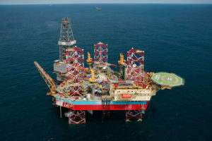 corrosion control for oil drilling platform