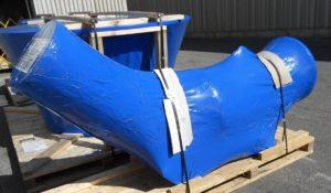 VCI Plastic Films Shrink Film protecting large mechanical part