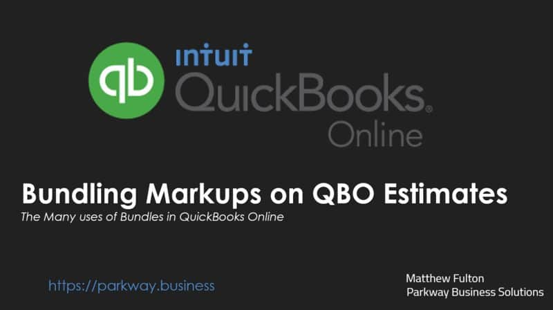 How to Markup Estimates using Bundles