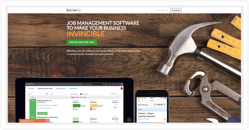 Knowify Homepage Smaller
