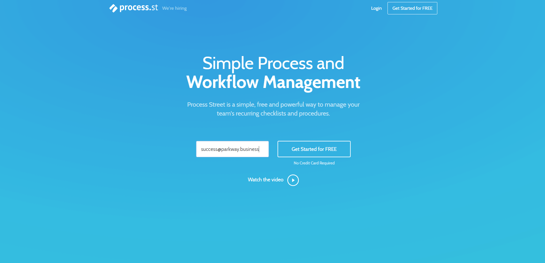 Picture of Process Street Homepage